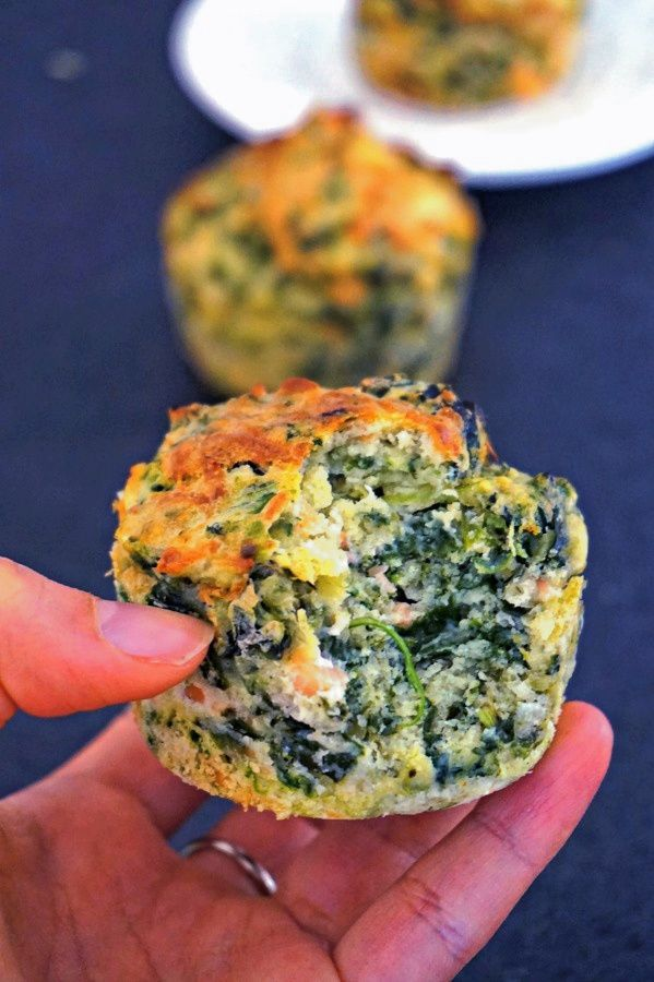 Muffins saumon épinards