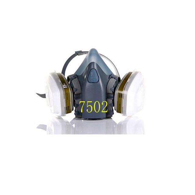 프로모션 7502 7 정장 반 가스 마스크 농약/그림/스프레이 화학 먼지 필터 호흡 마스크