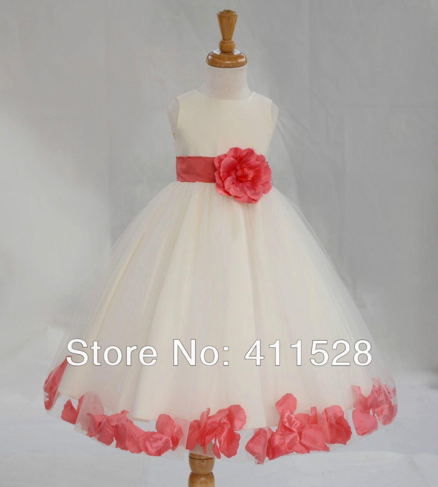figurines de vestidos para niñas wedding dress girl children flower ...