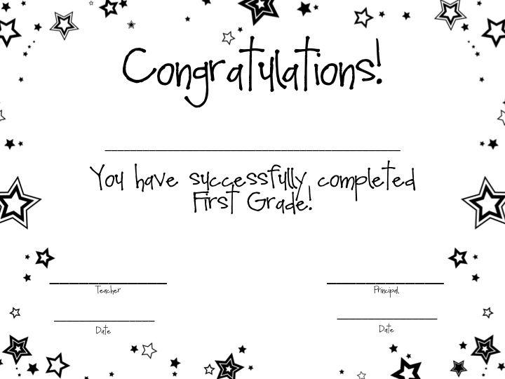 First Grade Fanatics First Grade Awards Certificates HS - first place award template