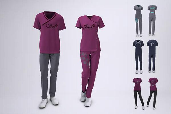 Spa Uniform Mock Up Psd Free Psd Templates Spa Uniform Mockup Uniform