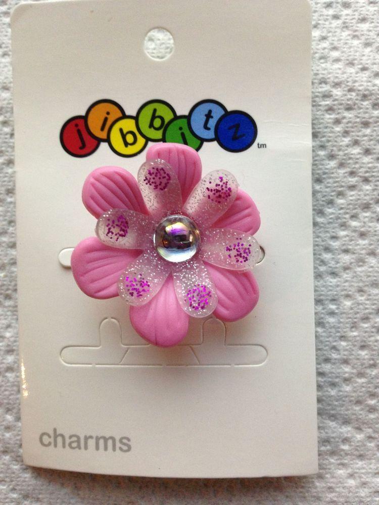 972ed5f8e198e 3D FLOWER JIBBITZ 3D PINK FLOWER SHOE CHARM FIT CROCS 3D PINK VIOLET ...
