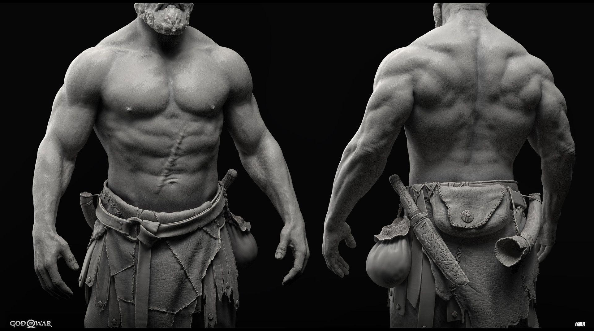 Artstation Kratos Raf Grassetti God Of War Kratos God