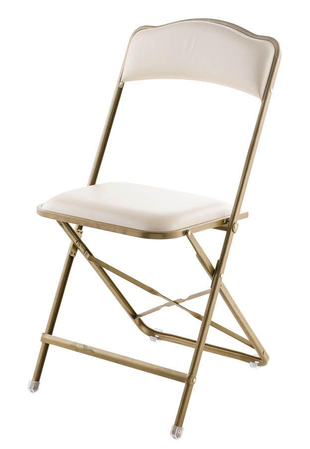 Fritz Style Folding Chair  Gold Frame  Euro Style Folding Chair, Folding  Chairs :