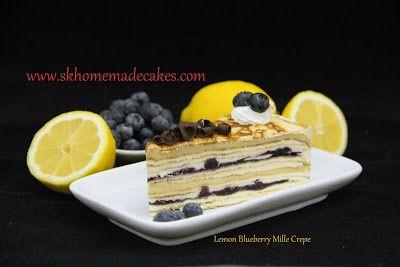 9bd7f5938b Lemon Blueberry Crepe ♥ SK Homemade Cakes ♥  Mille Crepe
