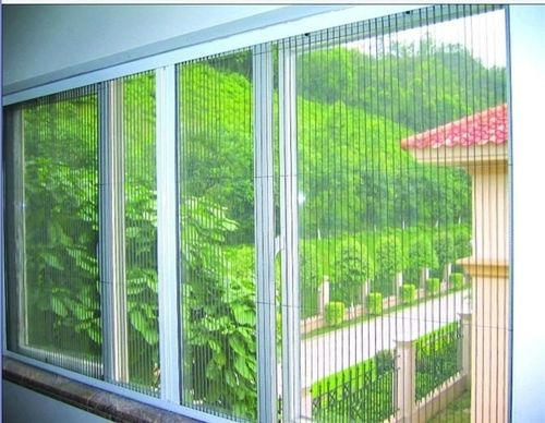 Pleated Mosquito Nets System As Mosquito Nets For Windows Are Decorative Yet Clearly Visible And Can Be Operated Effortle Sliding Windows Mosquito Net Windows