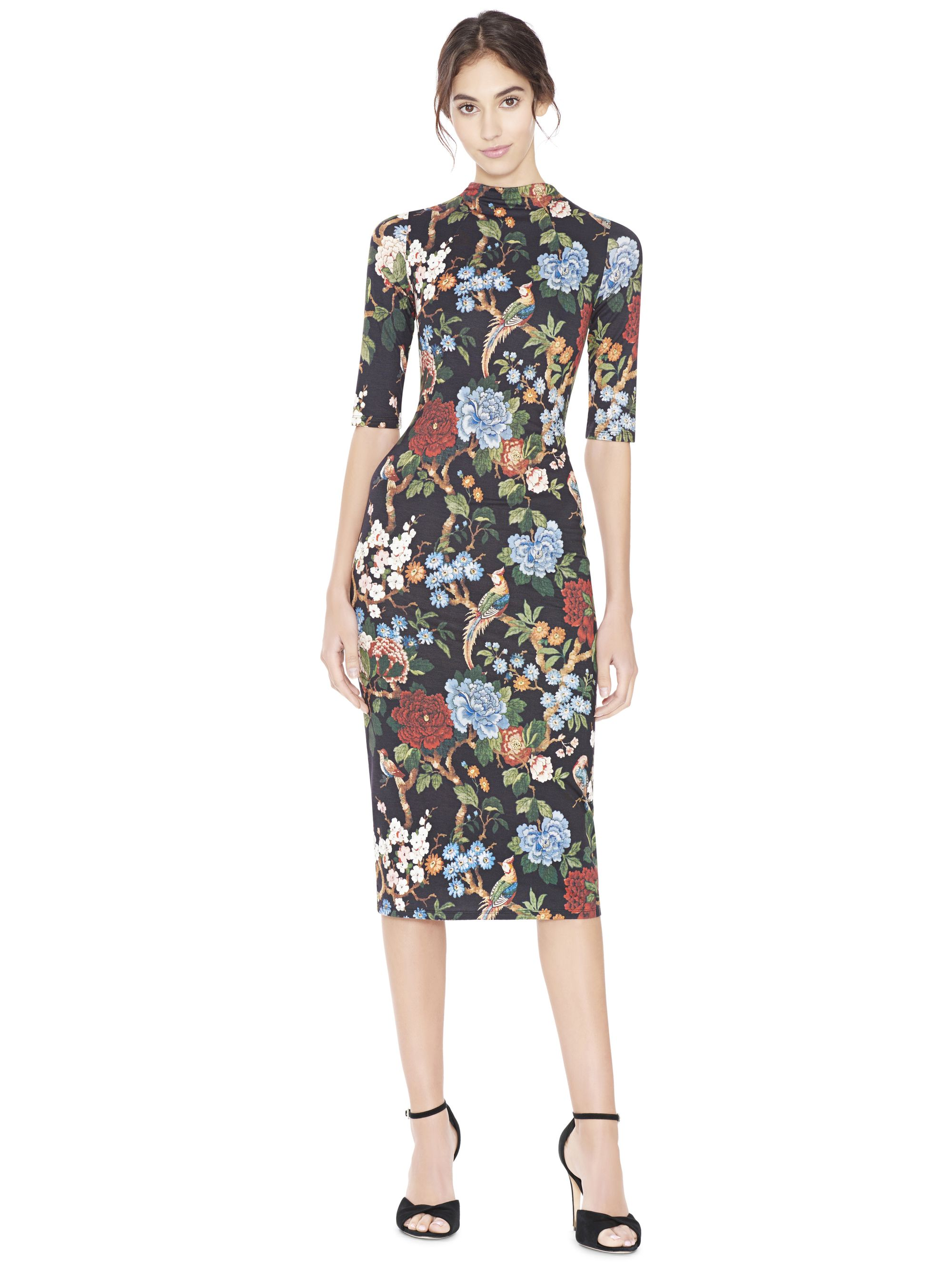 203ac1727f1b29 DELORA FITTED MOCK NECK DRESS by Alice + Olivia