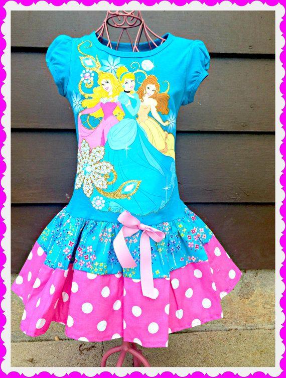 1bfaaf735f8 Princess dress girls Belle Cinderella and Aurora sleeping beauty 4 5 6 and 6 .  Birthday ...