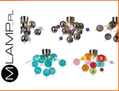 Lampa Sufitowa Chrom Brazowa Multikolor Hol Bombki 6015413801 Oficjalne Archiwum Allegro Stud Earrings Earrings Jewelry