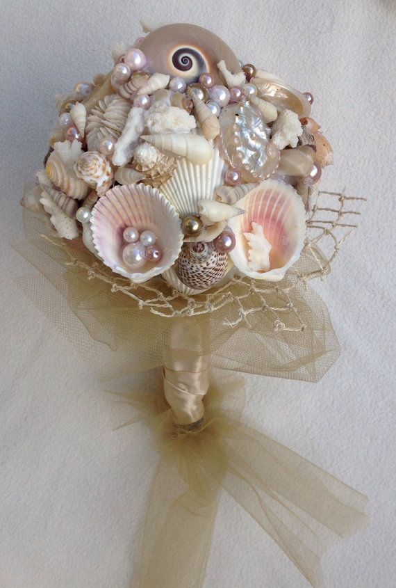 Nautical Wedding Bouquet Beach Sea By BeachBasketBride 8000