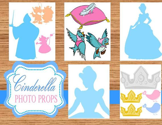 Cinderella Birthday - Photo Props - Cinderella Printables - Princess Party - Cinderella Party - Cinderella - Inspired -INSTANT Download