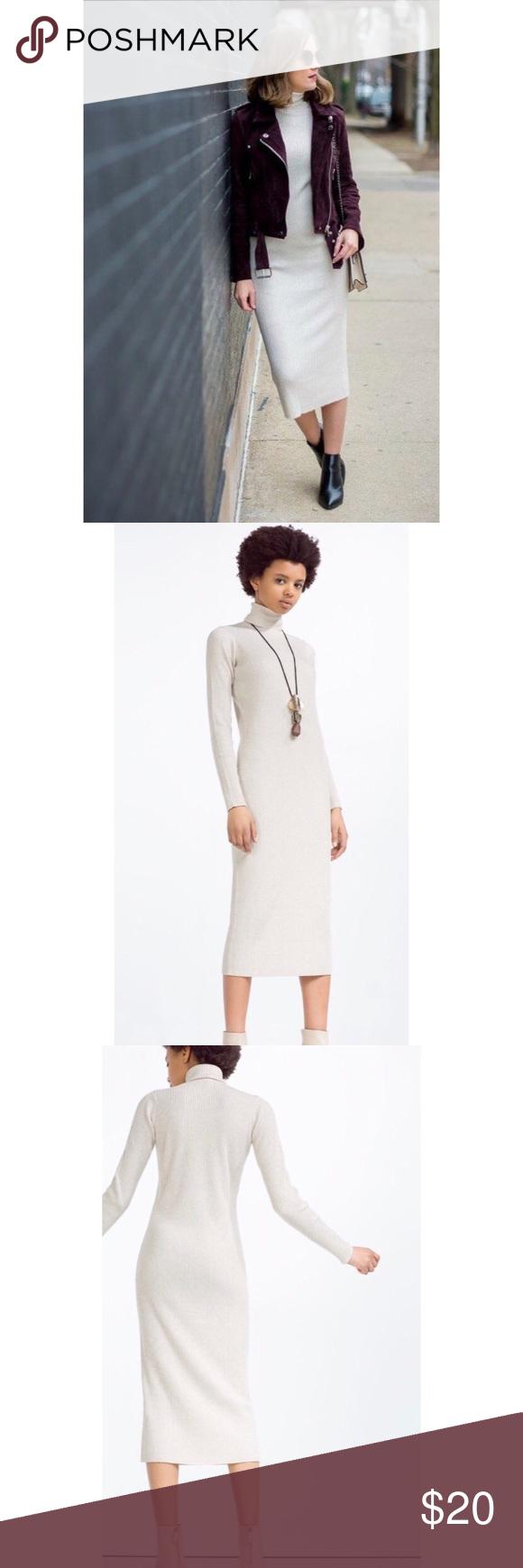 Zara Turtleneck Dress Turtle Neck Dress Zara Fashion [ 1740 x 580 Pixel ]