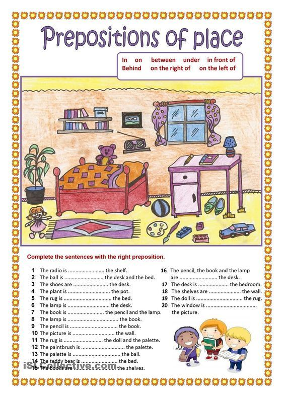 Prepositions of place (2).: | English material | Pinterest ...