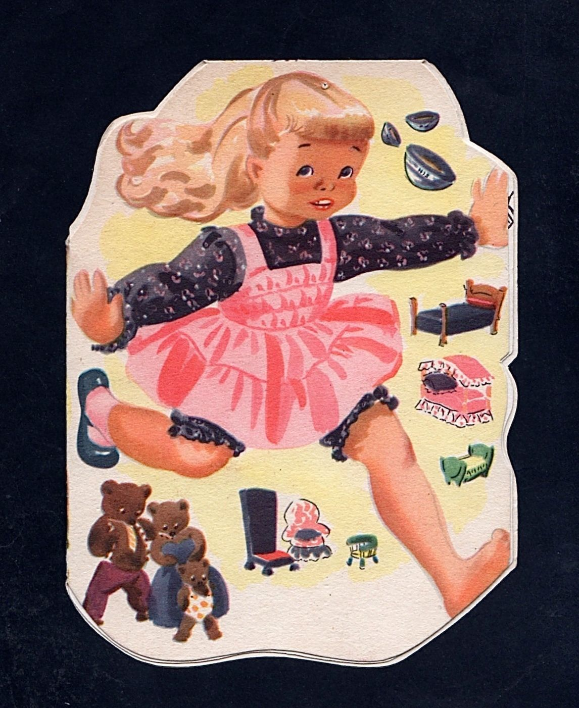 Goldie locks the 3 bears birthday card gy 08