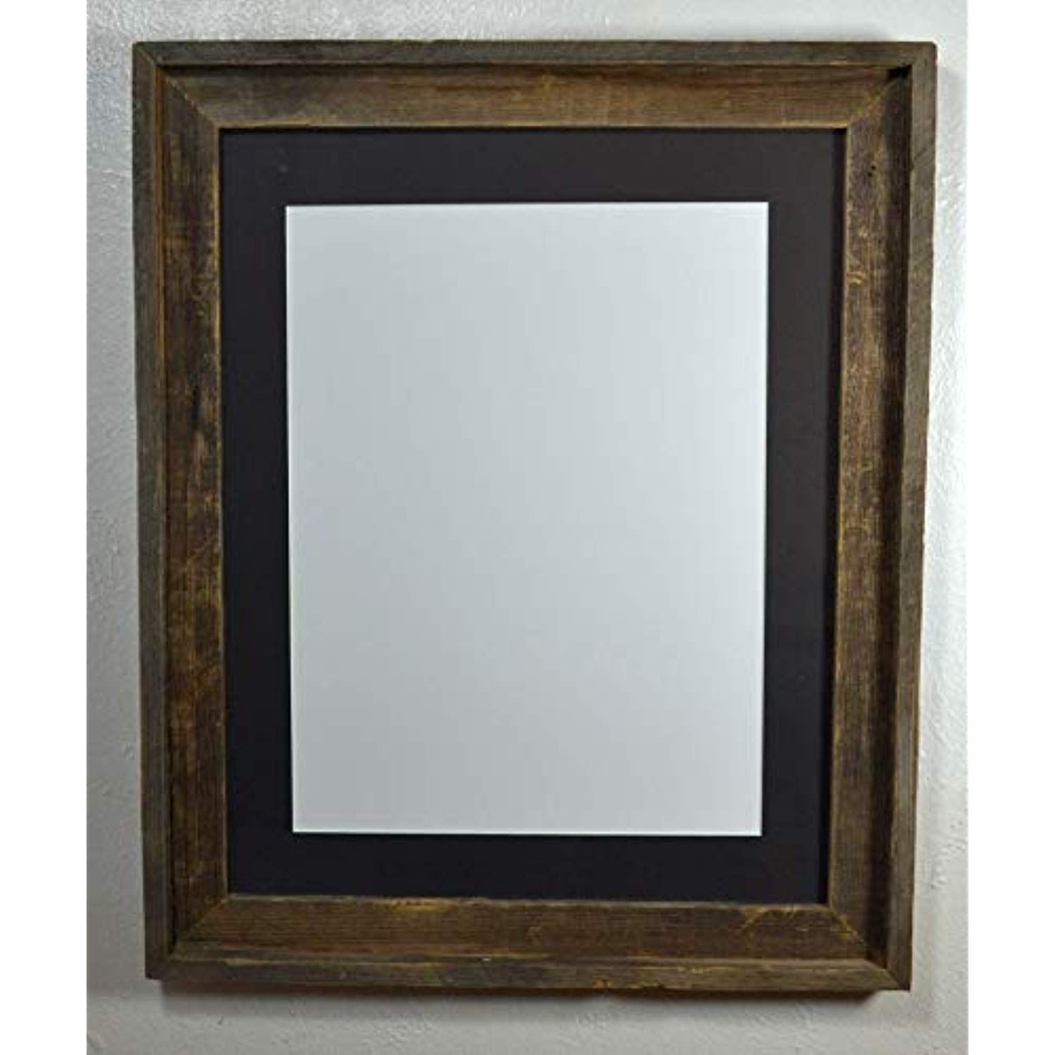 12x16 Farmhouse Style Art Frame Black Mat With Glass 16x20 Without Mat You Can Find More Reclaimed Wood Picture Frames Wooden Picture Frames Wooden Picture