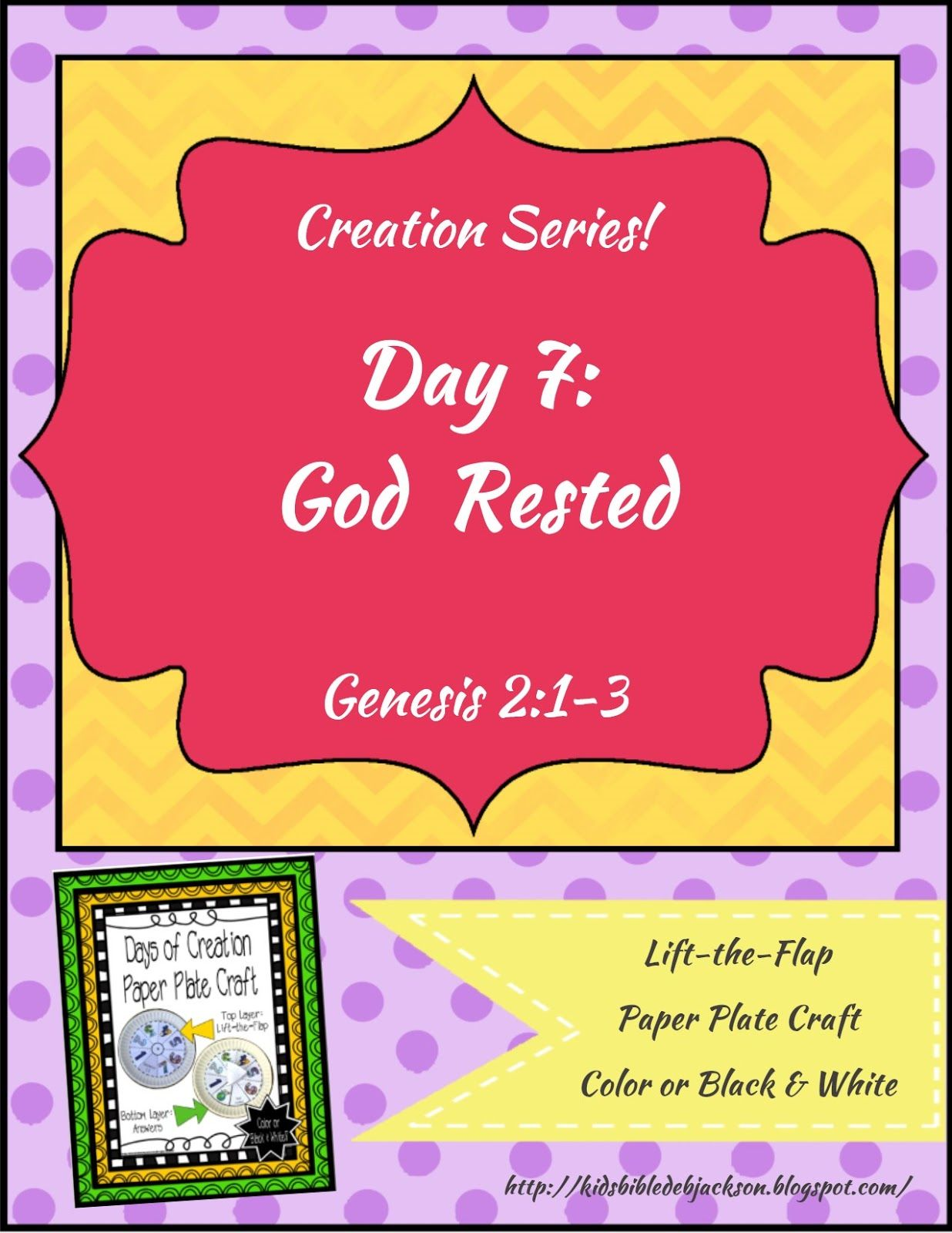 The Creation For Kids Day 7 With A Paper Plate Project Printable In Color And Black Amp White