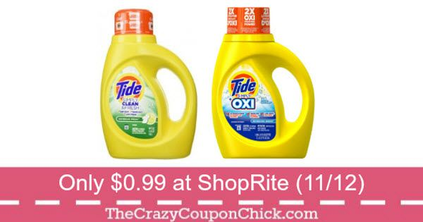Stock Up Tide Simply Clean Fresh Only 0 99 At Shoprite 11 12