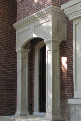 Limestone entrance portico ny toronto ca il for Portico entrance with columns