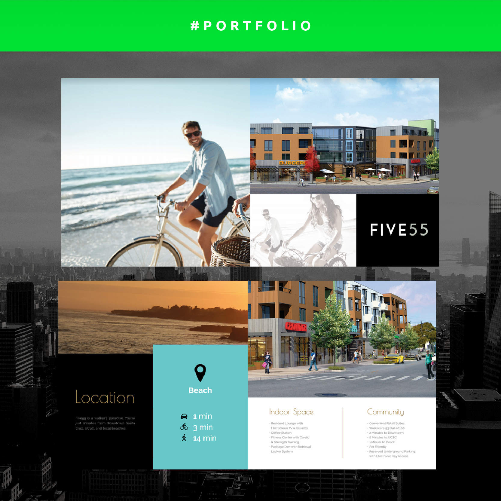 A New Brochure Successfully Created For Five55 Beach Apartment Websites Locations