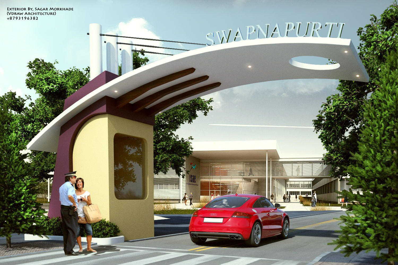 Exterior By Sagar Morkhade Vdraw Architecture 8793196382 Entrance Gates Design Entrance Design Door Gate Design