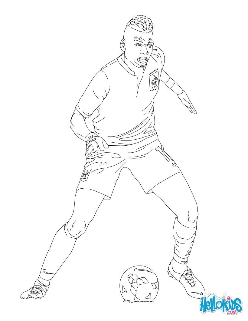 Paul Pogba Coloring Page Coloring Pages Football Coloring Pages