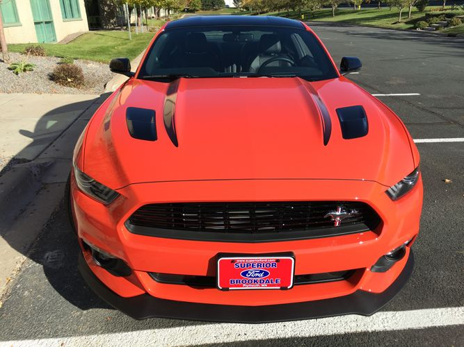 2016 Ford Mustang Gt Premium In Compeion Orange W Black Roof And California Special Package
