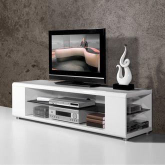 meuble tv laqu 4 niches2 tag res l160xp45xh43cm highgloss