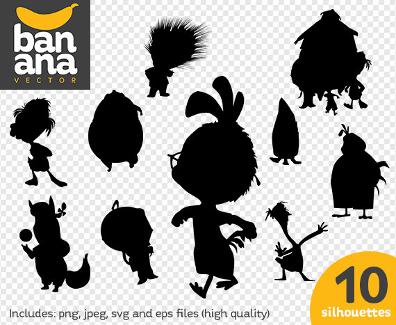 Sale Chicken Little Silhouettes Png Jpg Svg Eps Files High Resolution Bv Fa 0013 Silhouette Png Disney Silhouette Art Disney Silhouette