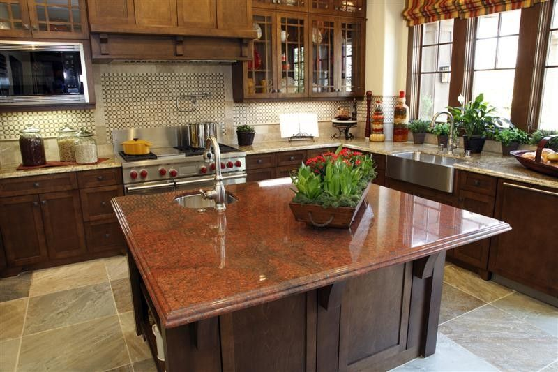 Red Dragon Granite Kitchen  Kitchens Forum  Gardenweb  Kitchen Custom Kitchen Design Richmond Design Inspiration