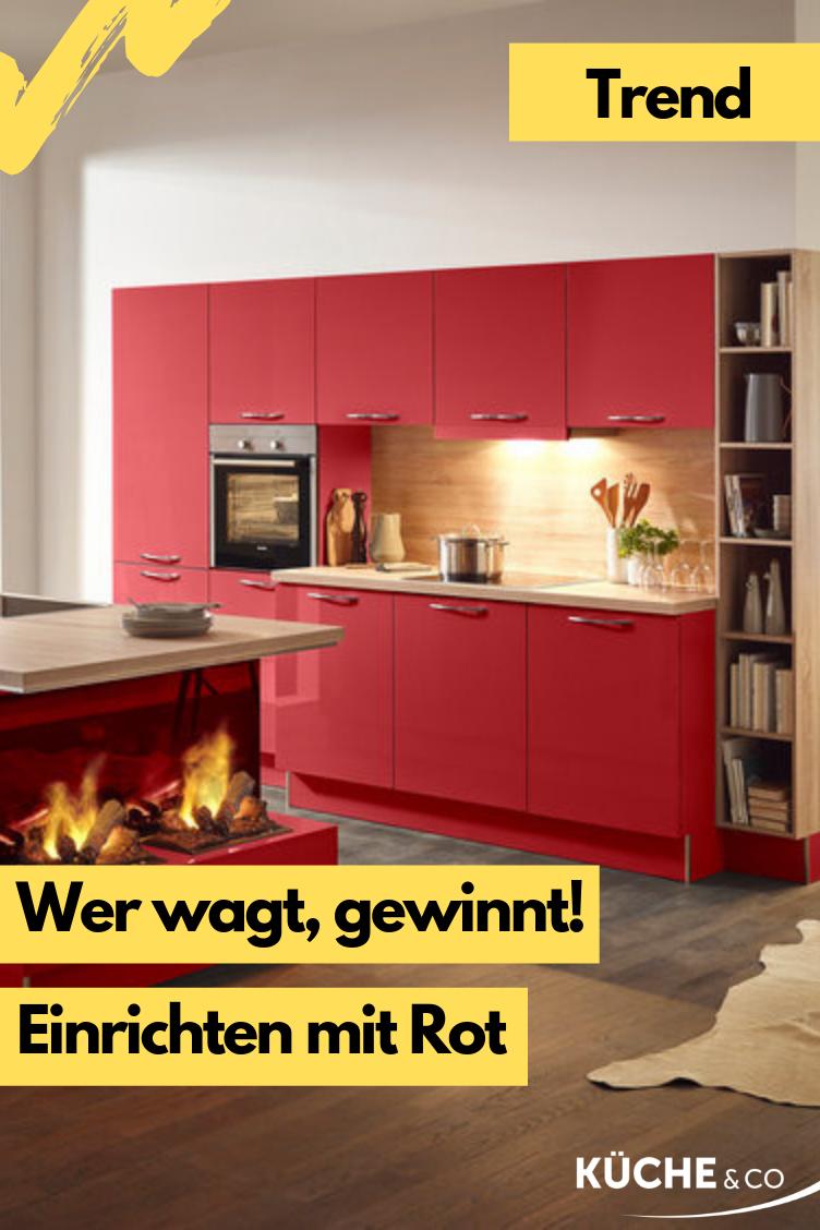 rot #küche #einbauküche #wohnküche #trend #trend2019 Moderne ...