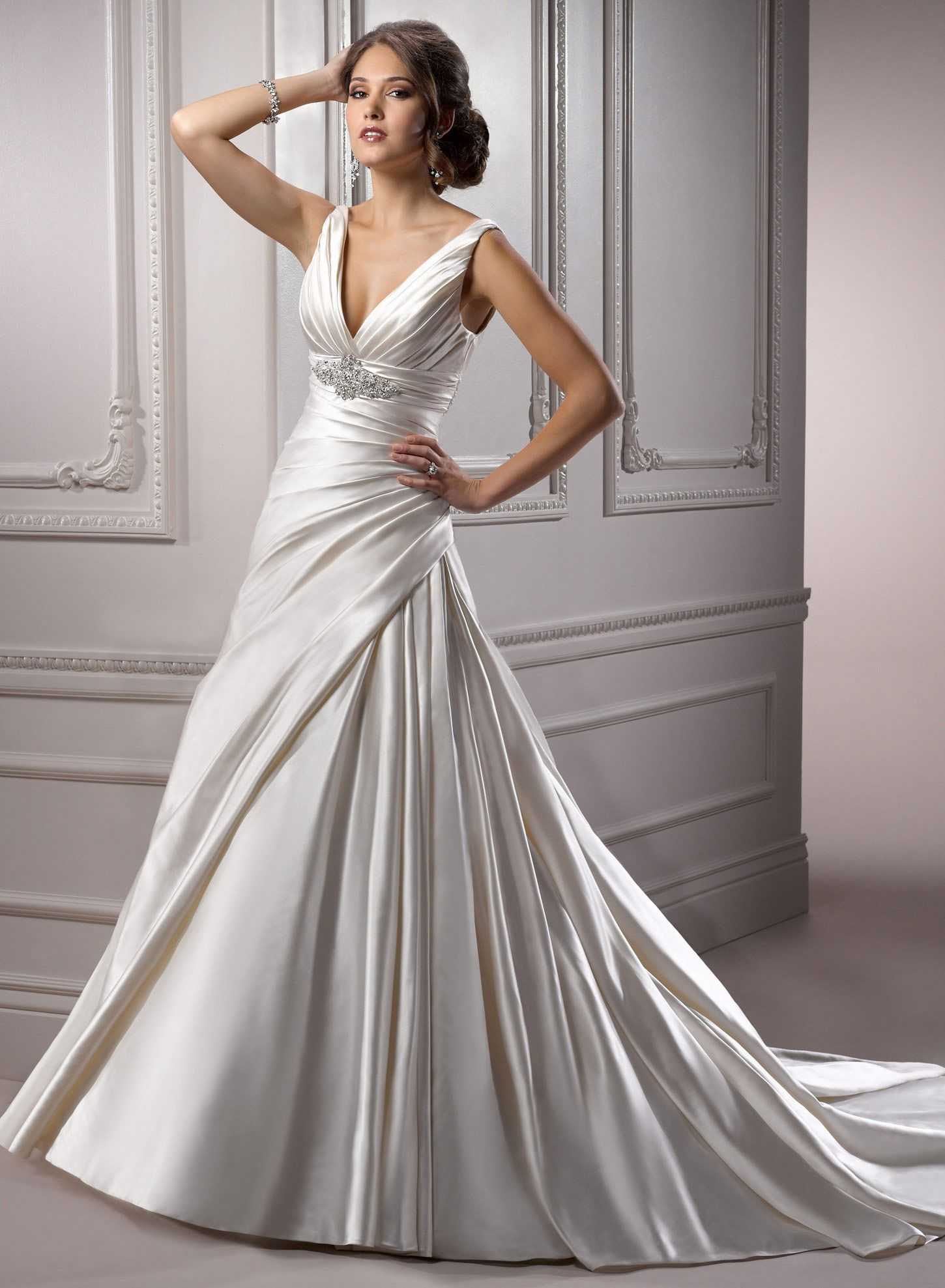Non-strapless dresses! : wedding gowns large busted non strapless ...