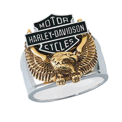 $145.95 Stainless Steel Harley-Davidson Men's Wings of Freedom Ring From Biker Jewelry http://www.bikeraa.com/