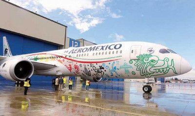 Aeroméxico presenta su Boeing 787-9, el avión más moderno del mundo