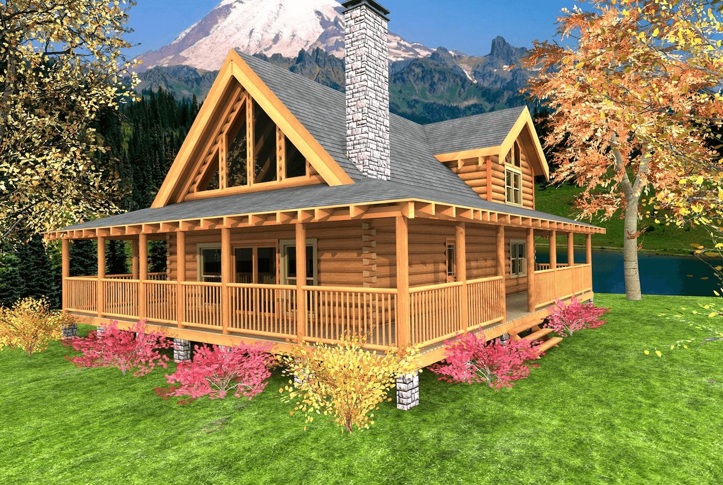 Amazing Small House Front Porch Design Ideas For All House Types Small House Tips Rustic House Plans Porch House Plans Log Cabin Plans