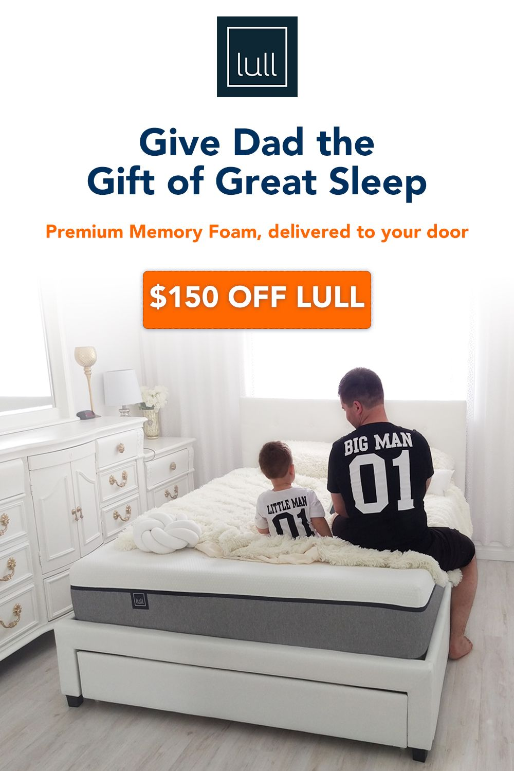 The Perfect Father S Day Gift In 2020 Lull Perfect Mattress Lull Mattress