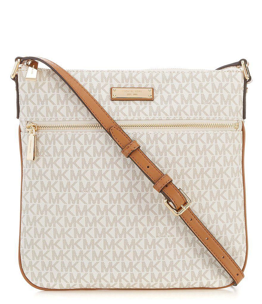 88917e415a0fd1 MICHAEL Michael Kors Bedford Signature Flat Cross-Body Bag | Dillard's