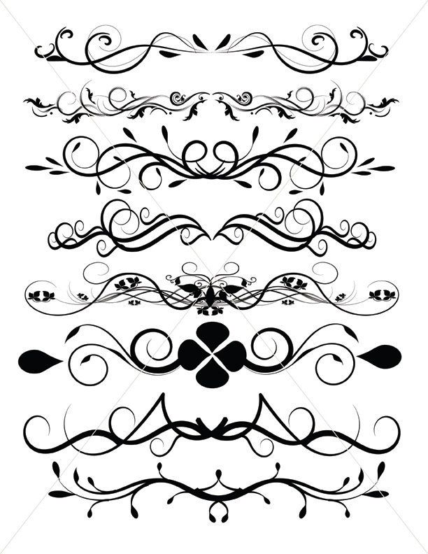 flourish svg divider lines scalable vector graphics