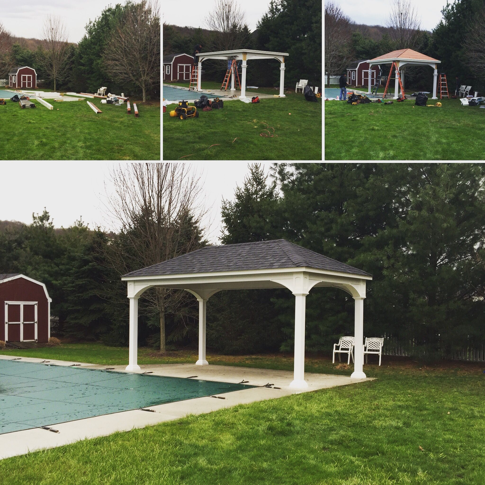Ordinaire Traditional Vinyl Pavilion, Professional Installed By Best In Backyards!  Great For The Backyard,