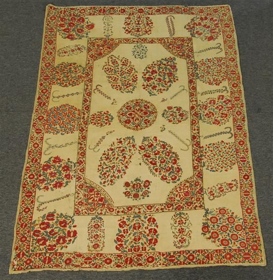 Grogan and Company | SUZANNI EMBROIDERY, mid 19th century 8 feet x 5 feet 5 inches