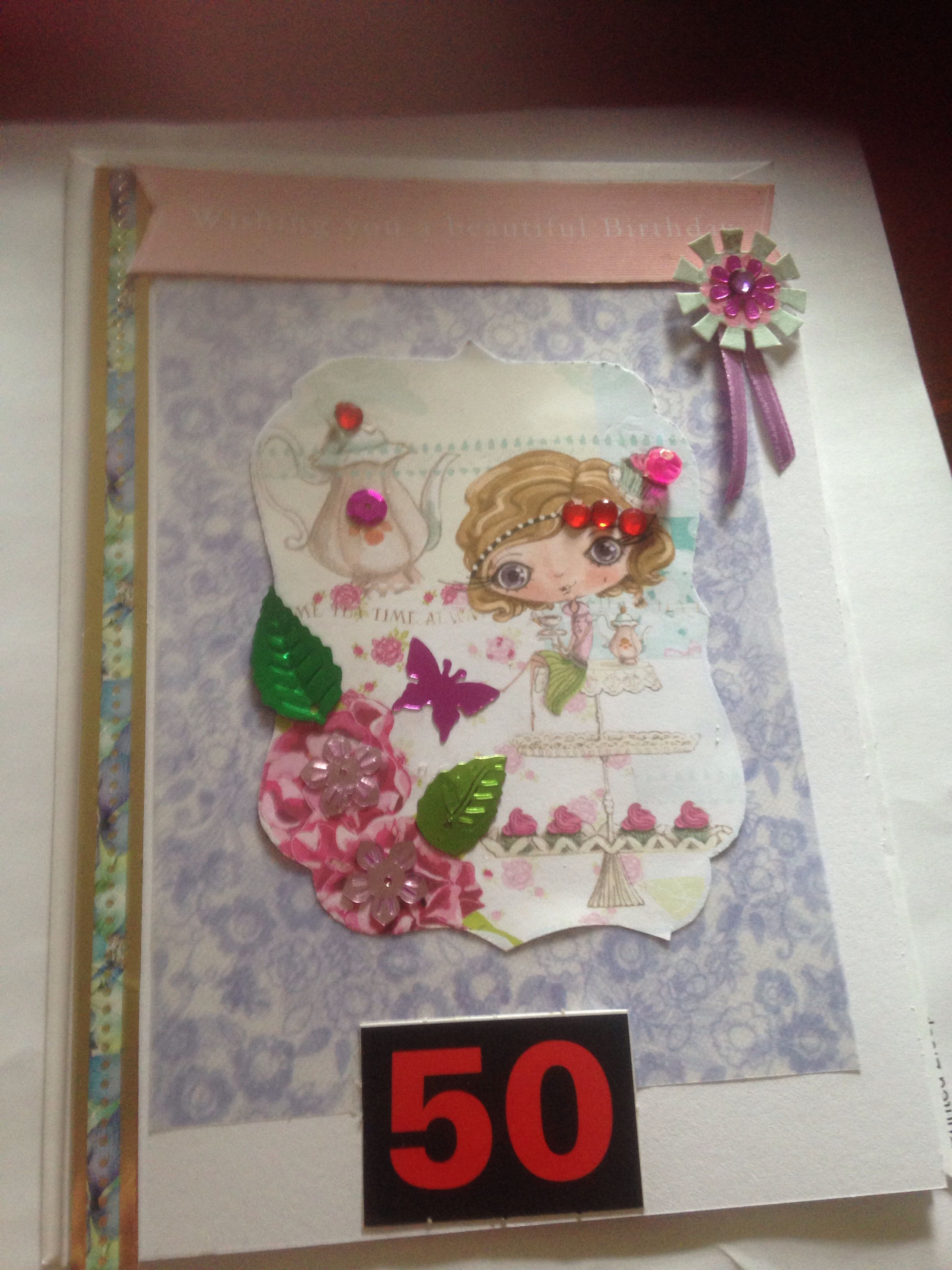 50th birthday card i have made 50th birthday cards