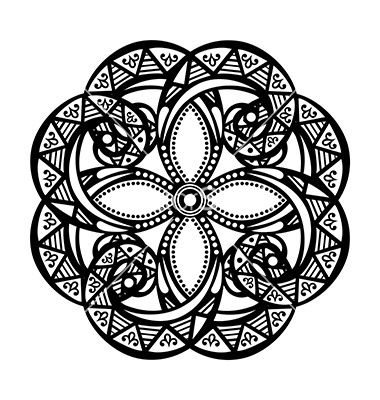 Deco symmetrical circle design vector by Krivoruchko - Image .