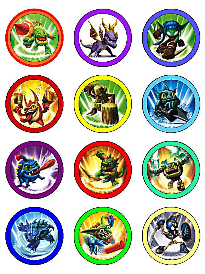 Free printable cupcake toppers Skylanders Party Pinterest Free