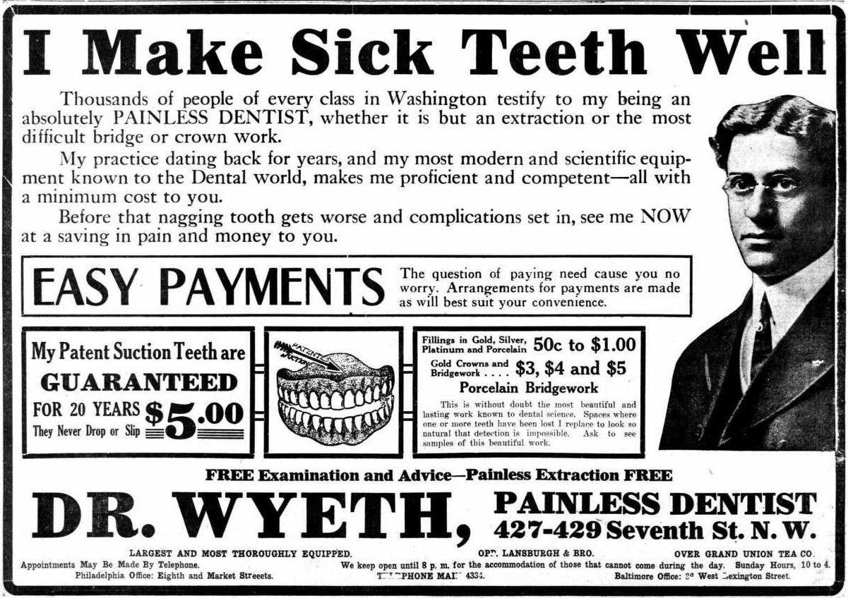 I Make Sick Teeth Well | 20), Year and Teeths