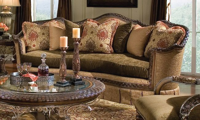 Old World Tuscan Sofa Furniture The Furniture Traditional