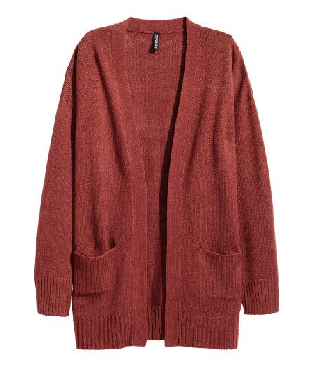 f2d1f802a0 Check this out! Cardigan in a soft knit with dropped shoulders