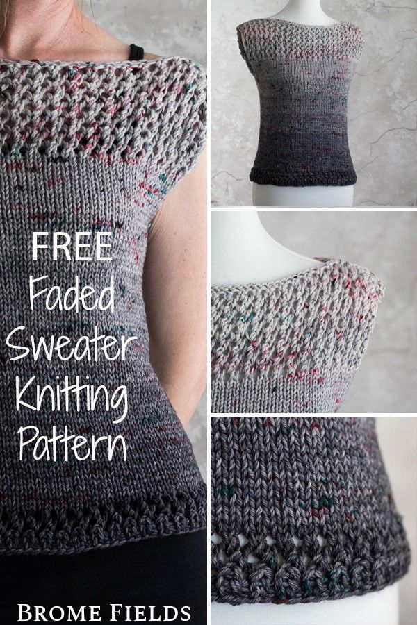 Photo of {FREE} ENTHRALL : Faded Lacy Sweater Knitting Pattern – Brome Fields