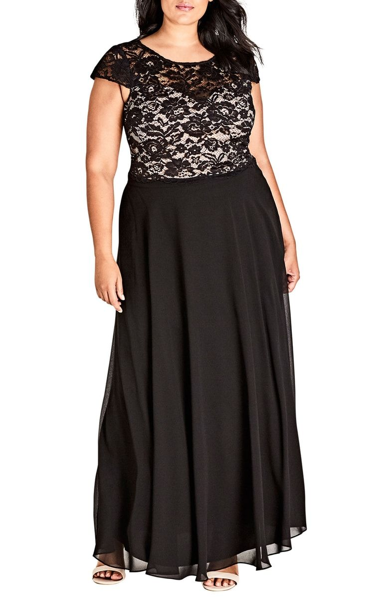 City Chic Elegance Maxi Dress Set Plus Size Nordstrom Maxi Dress Set Dress Stylish Formal Dresses [ 1196 x 780 Pixel ]