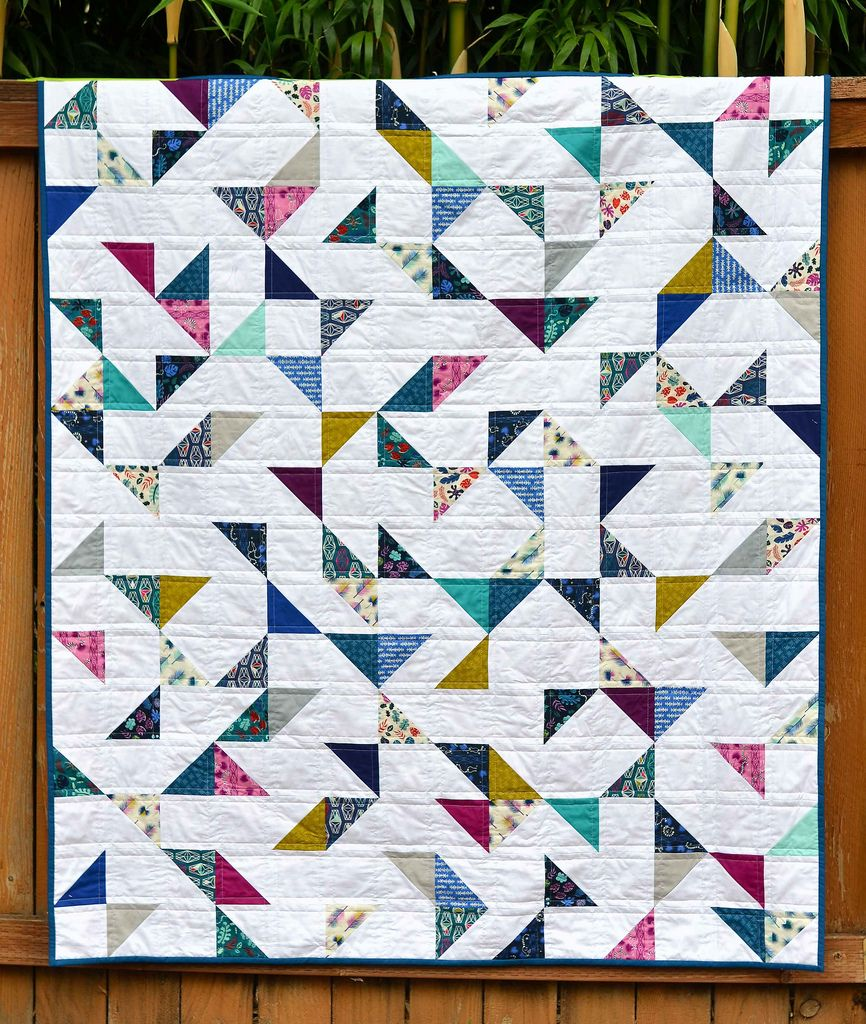 Lagoon HST Quilt (with tutorial) (Kitchen Table Quilting ... : quilting meaning - Adamdwight.com