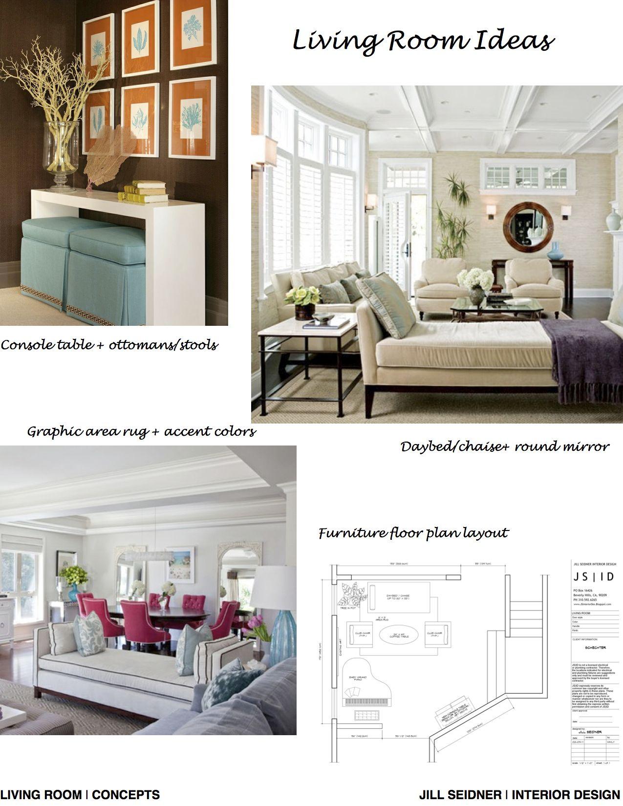 Carmel Valley, CA Online Design Project Living Room Concept Board ...
