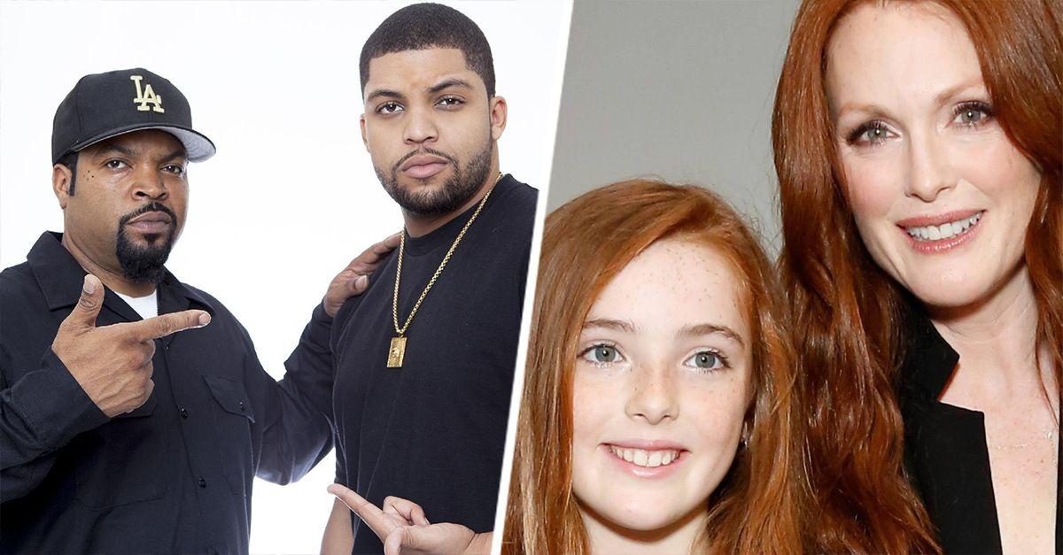 Es muy común que los hijos tengan algún parecido con algunos de sus papás y los hijos de las celebridades no son la excepción, ellos también son idénticos